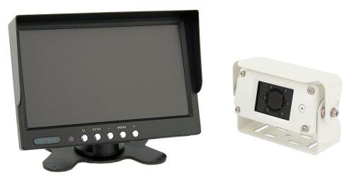 "premium 7farb rueckfahrsystem mit ip68 rueckfahrkamera audio 20m kabel 12 24v - Premium 7""Farb- Rückfahrsystem mit IP68 Rückfahrkamera, Audio + 20m Kabel 12-24V"